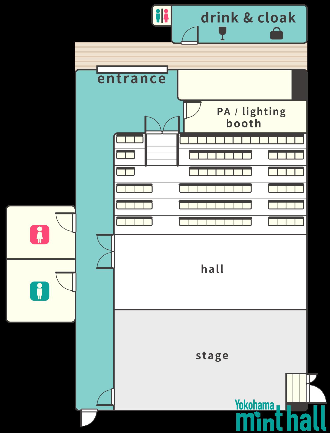 Yokohama mint hall floor map