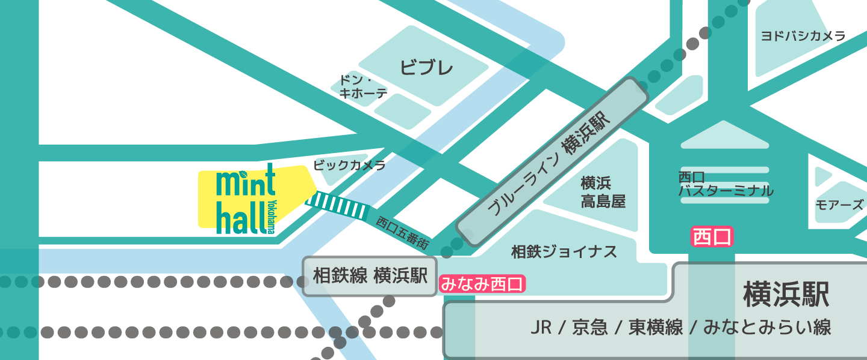 Yokohama mint hall MAP